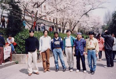 武漢大学の花見