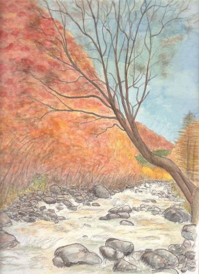 秋の秋神川