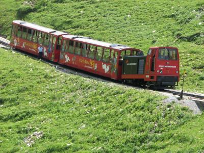 スイスアルプス絶景ハイキング その40ブリエンツロートホルン鉄道