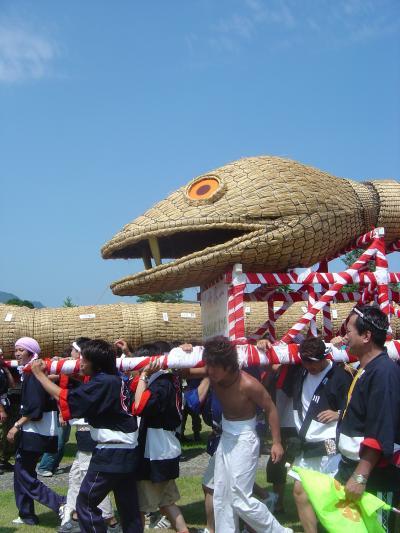 ギネス認定世界一の大蛇「大したもん蛇まつり」