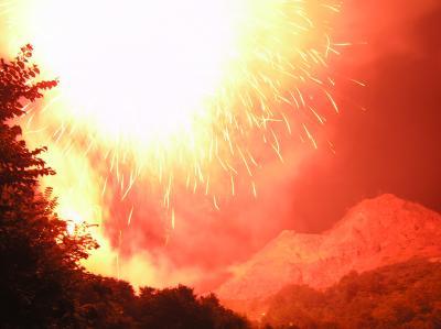 昭和新山火祭り