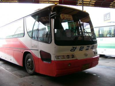 고속버스と택시と베 加辺→加平→南怡島(ナミソム)
