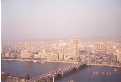 エジプトの首都、大都会のカイロ。