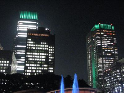 師走の東京の風景その?光都東京・LIGHTOPIA(2)丸の内ビル・新丸の内ビルのエメラルドクラウン景観照明