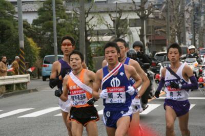 2007年・第83回箱根駅伝大会・保土ヶ谷宿で応援