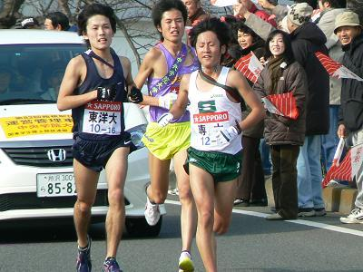 箱根駅伝のランナーを追いかけながら東京へ(2007新年日帰りの旅?)
