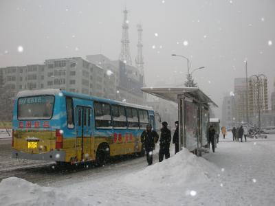 延吉 2007年久しぶりの雪