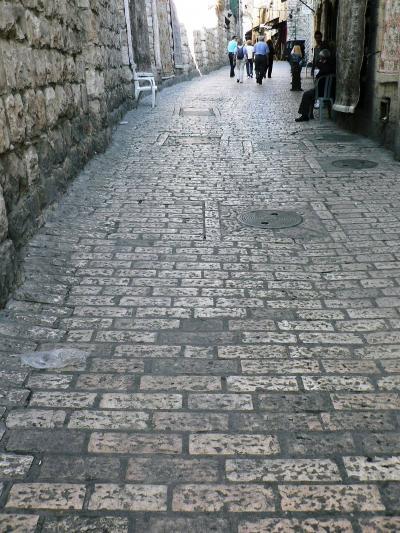 欧州・バックパッカーの旅【50】 イスラエル・エルサレムの「悲しみの道」を歩く