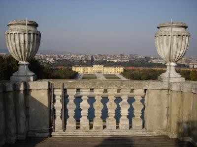 秋のシェーンブルン宮殿のお庭をお散歩