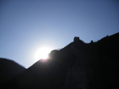 北京市内と万里の長城