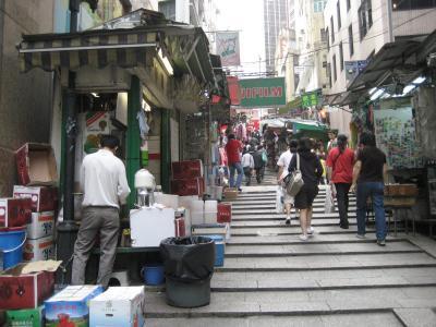 2007年02月、旧正月前の香港(その10:中環の石板街)