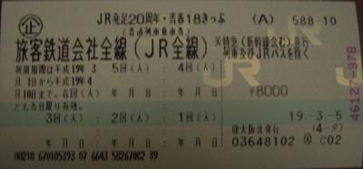 青春18きっぷで軽井沢