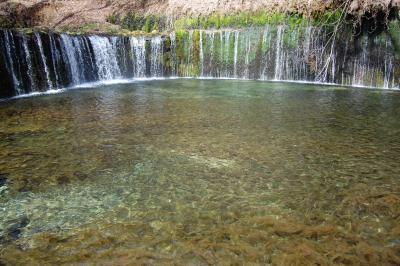 白糸の滝、旧三笠ホテル@軽井沢