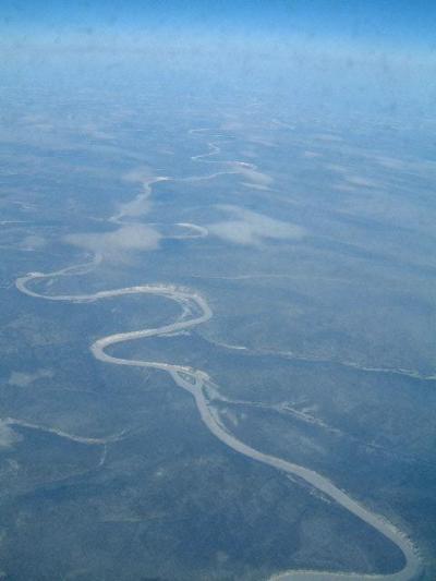 アルメニア行きの経由地モスコーまでの機中機外の風景