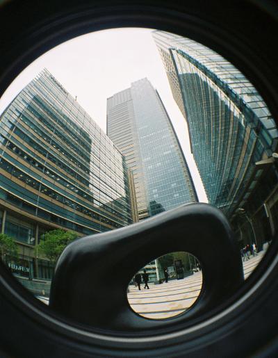 魚眼の東京ミッドタウン