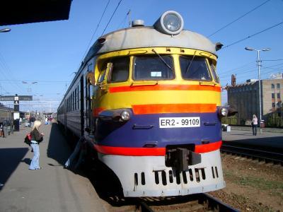 列車-リーガ駅