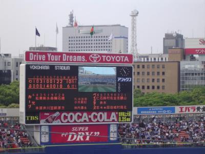 プロ野球観戦 広島−横浜(横浜スタジアム)