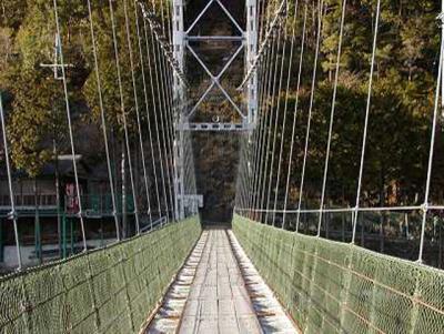 日本一長い谷瀬の吊橋