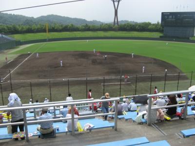 岡崎市民球場で社会人野球観戦