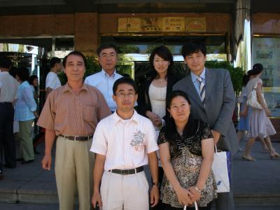 延吉 高麗ホテルで瀋陽日本人会事務局との交流