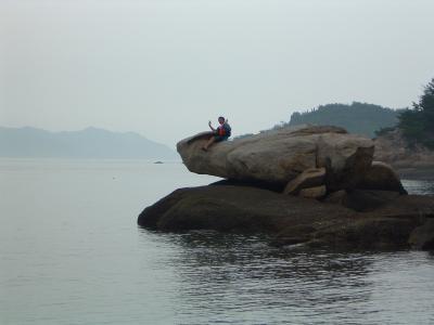 カヤックの旅?備讃諸島宇野沖 喜兵衛島、京ノじょうろう島周辺