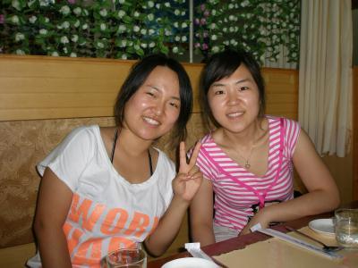 延吉 日本、上海にいく朝鮮族女性とお別れ会
