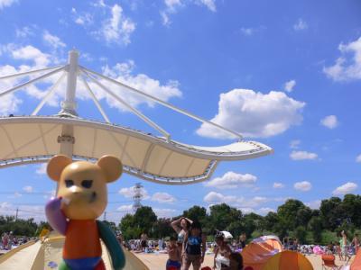 『暑~い、暑~い、暑~~~い』 しらこばと水上公園