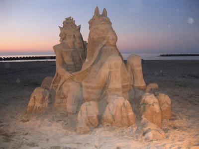 直江兼続の砂像