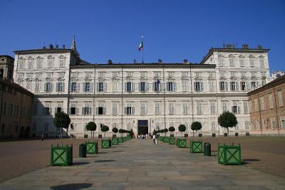 トリノの世界遺産サヴォイア家の王宮、そして夜景