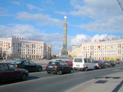 クパラウスカヤから勝利広場。
