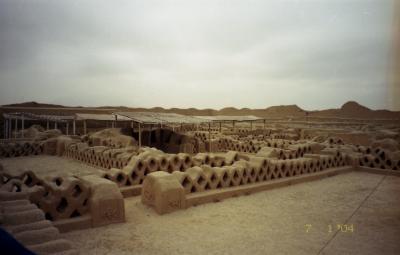 乾燥した土地ならではのピラミッド