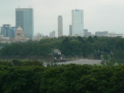 新丸ビルのテラスからの景色を堪能(2007久しぶりにプロ野球のはしごへ?)