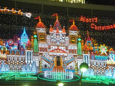 名古屋駅前でクリスマスイブの前夜祭を