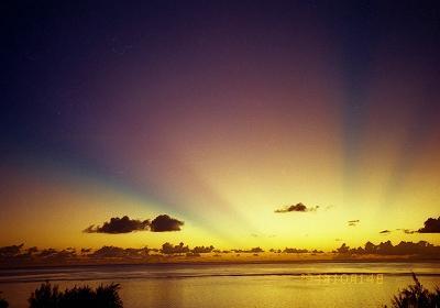 1994 サイパン No.3 マニャガハ島~ホテルからの夕焼け