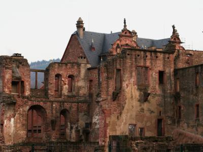 2007暮、ドイツ旅行記(4):12月14日(2)ハイデルベルク・ハイデルベルク城址