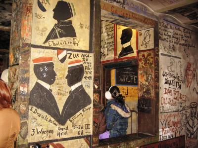 2007暮、ドイツ旅行記(6):12月14日(4)ハイデルベルク・学生牢址