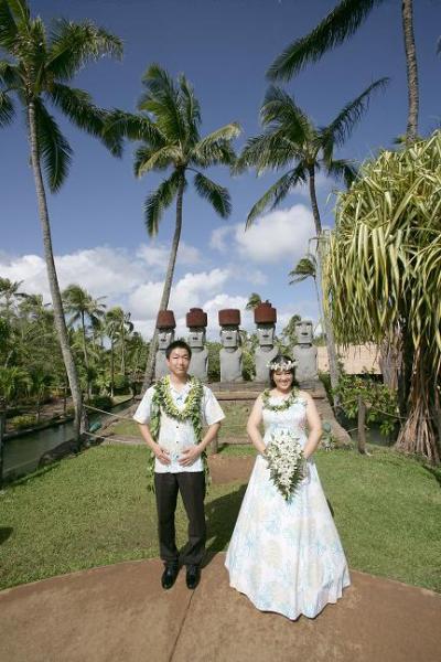 ポリネシア文化センターで☆結婚式☆~前半~