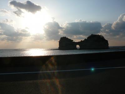 遠征ゴルフ&白浜観光:名勝円月島