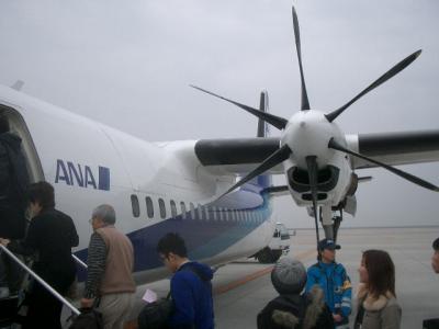 久しぶりでプロペラ機に乗りました