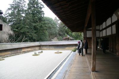 冬の京都 龍安寺