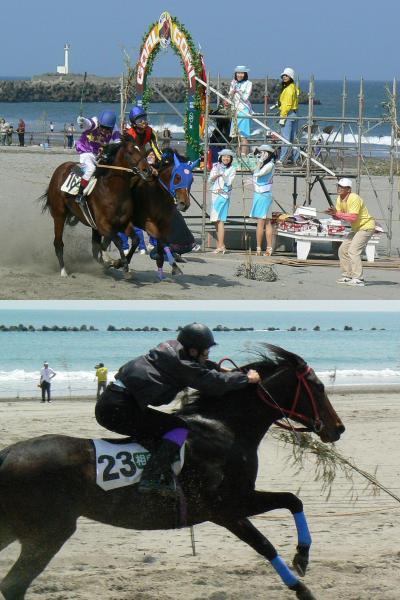 日本でここだけ 相良草競馬大会は砂浜競馬 最終レースに感動が!+長藤