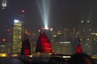 素晴らしい!香港スターフェリー、ナイトクルーズ