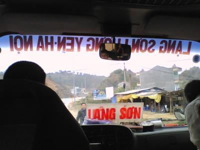 2008年1月 香港→タイ陸路6300? 24日間バスの旅 (6日目・中国→ベトナム国境超え)