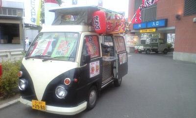 移動販売ケータリングカーをパチンコ店で!!