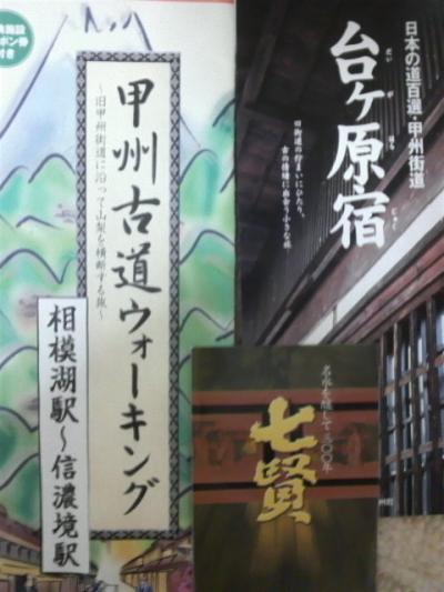 ◆甲州古道ウォーキング 「韮崎駅~信濃境駅」