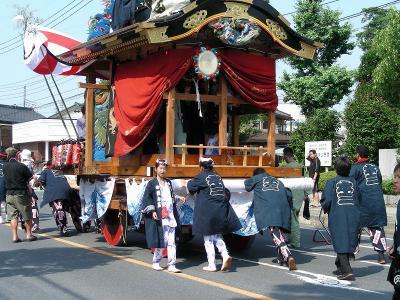 静かな町 華やかな久喜の堤燈祭(天王様)−?