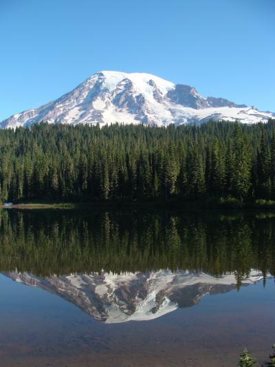 マウント・レ−ニエNP大自然の旅!Mt,Rainier Paradise & Reflection Lakes