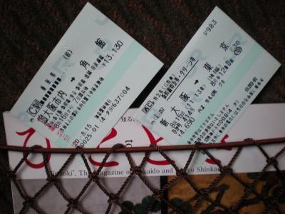 2008年の帰省。新幹線で行く東海道ひざくりげ?