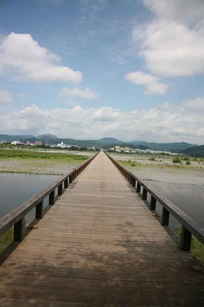 長さ世界一の木造橋蓬莱橋