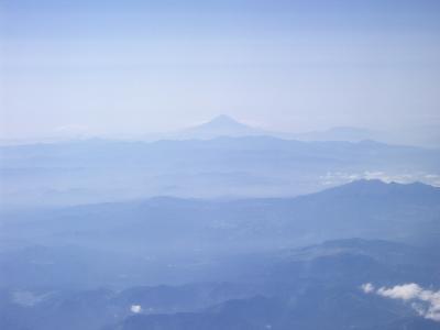 花巻からセントレアの途中では富士山が見える